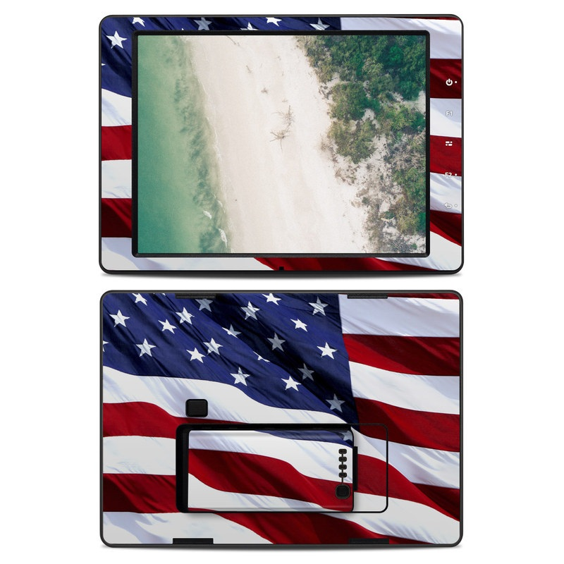 DJI CrystalSky 7.85-inch Skin design of Flag, Flag of the united states, Flag Day (USA), Veterans day, Memorial day, Holiday, Independence day, Event with red, blue, white colors