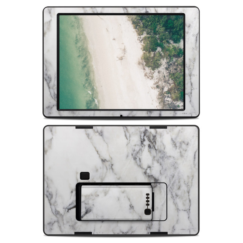 White Marble DJI CrystalSky 7.85-inch Skin