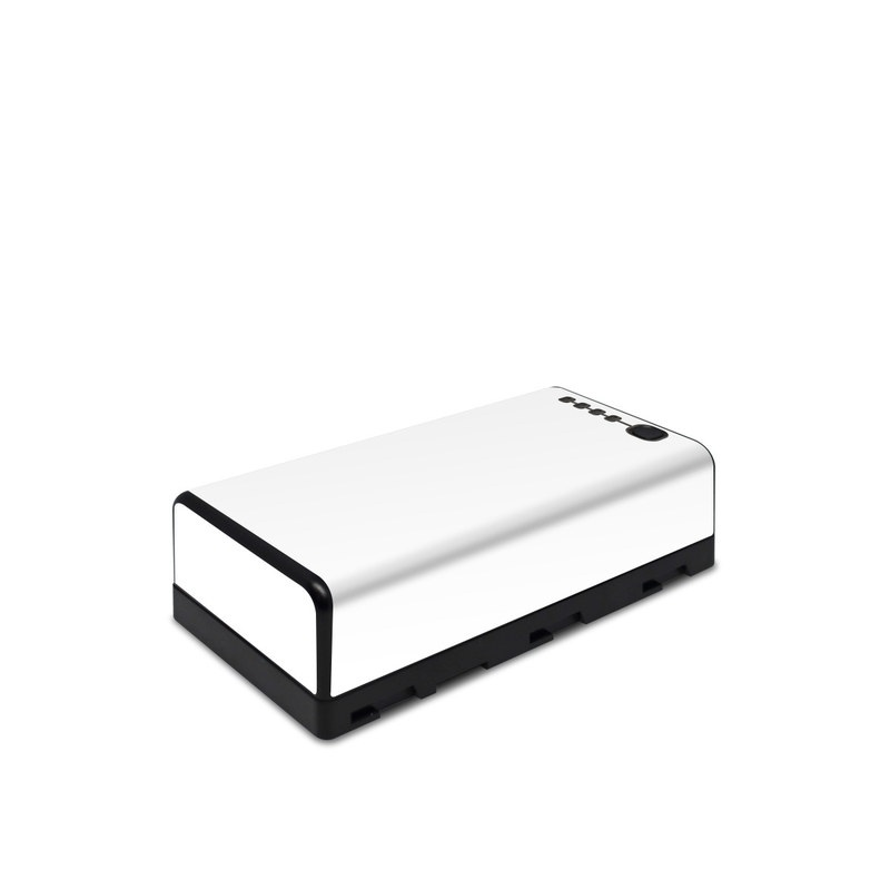 DJI CrystalSky Battery Skin design of White, Black, Line with white colors