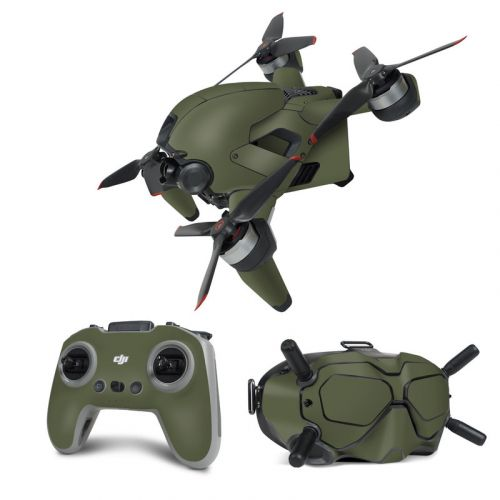 Solid State Olive Drab DJI FPV Combo Skin