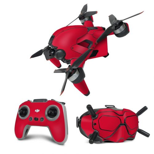 Solid State Red DJI FPV Combo Skin