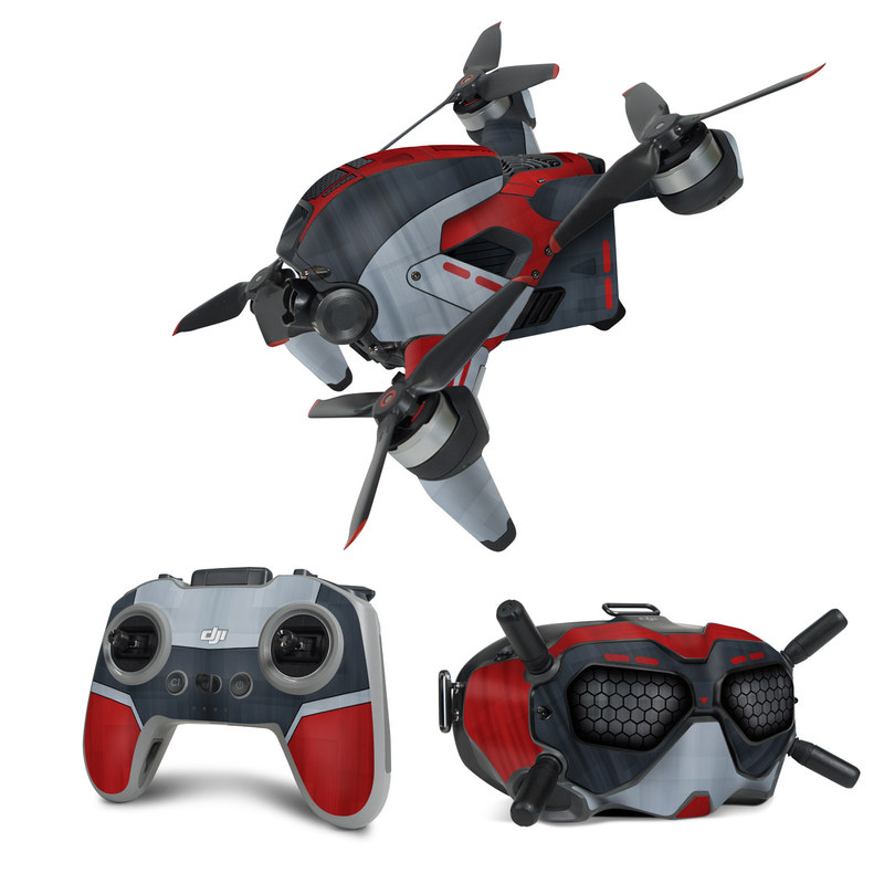 DJI FPV Combo Skin design with black, red, gray colors