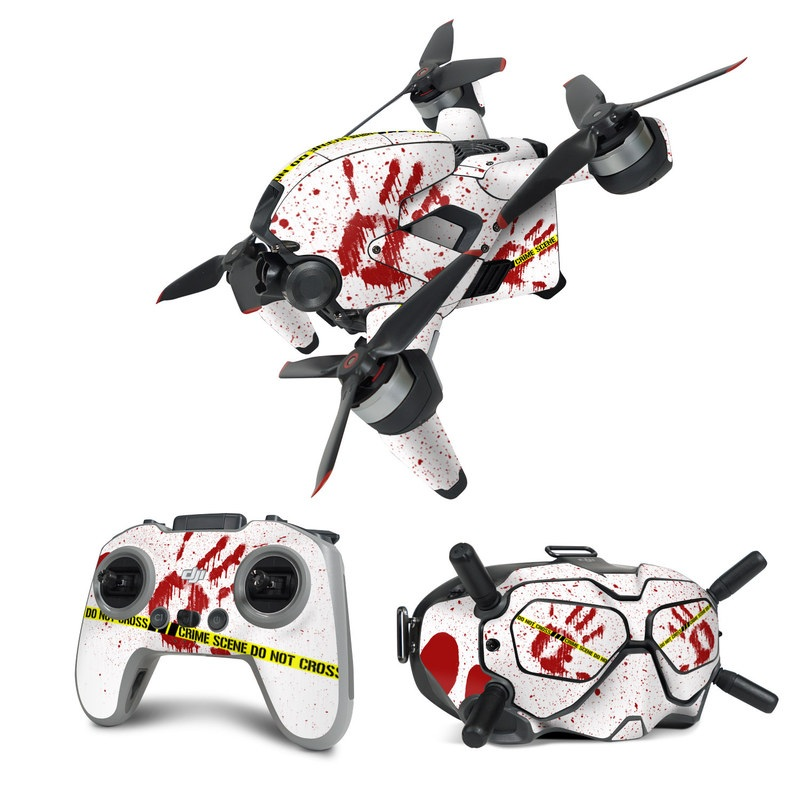 DJI FPV Combo Skin design of Text, Font, Red, Graphic design, Logo, Graphics, Brand, Banner with white, red, yellow, black colors