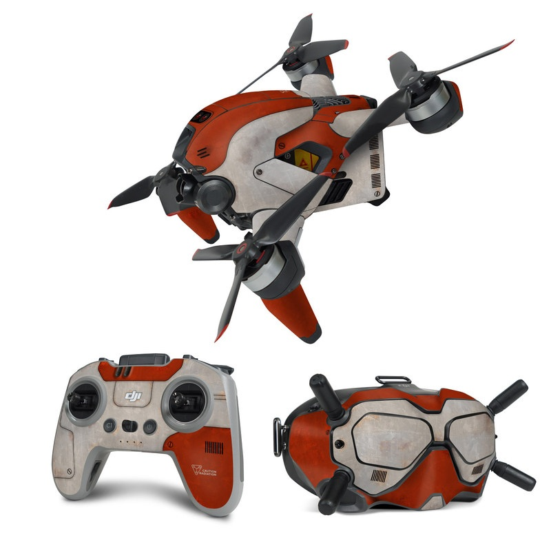 DJI FPV Combo Skin design with red, gray colors
