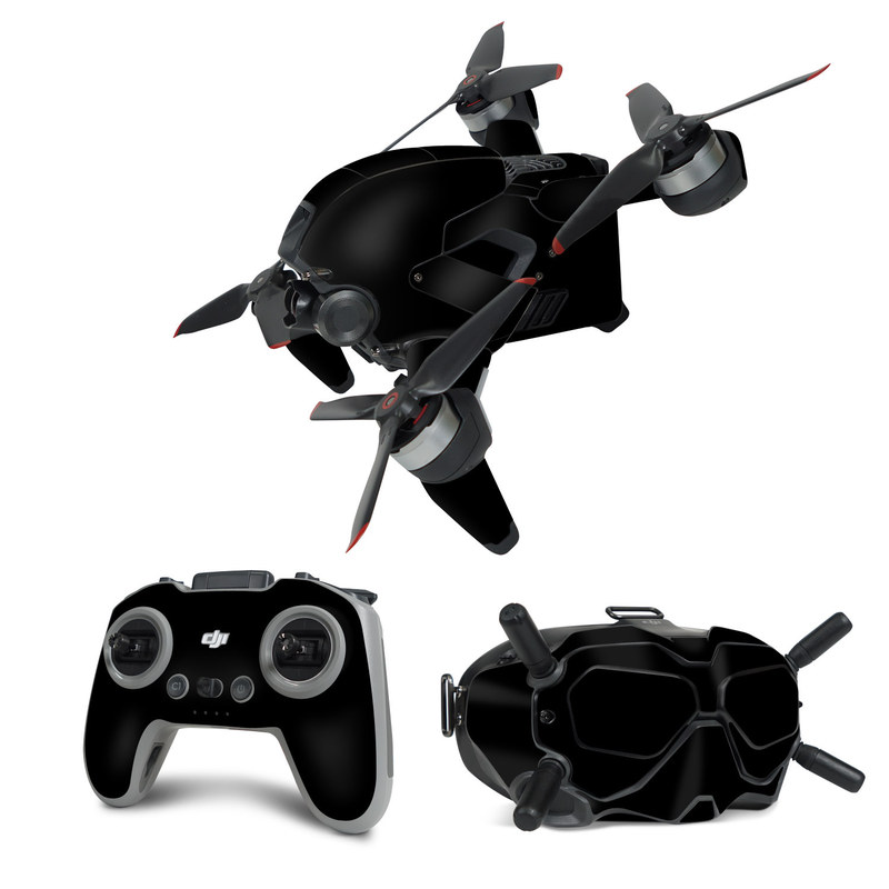 DJI FPV Combo Skin design of Black, Darkness, White, Sky, Light, Red, Text, Brown, Font, Atmosphere with black colors