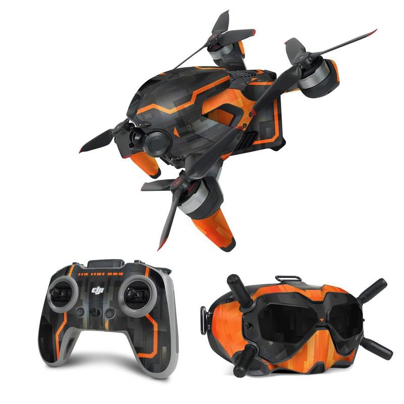 DJI FPV Combo Skin design with black, gray, orange colors