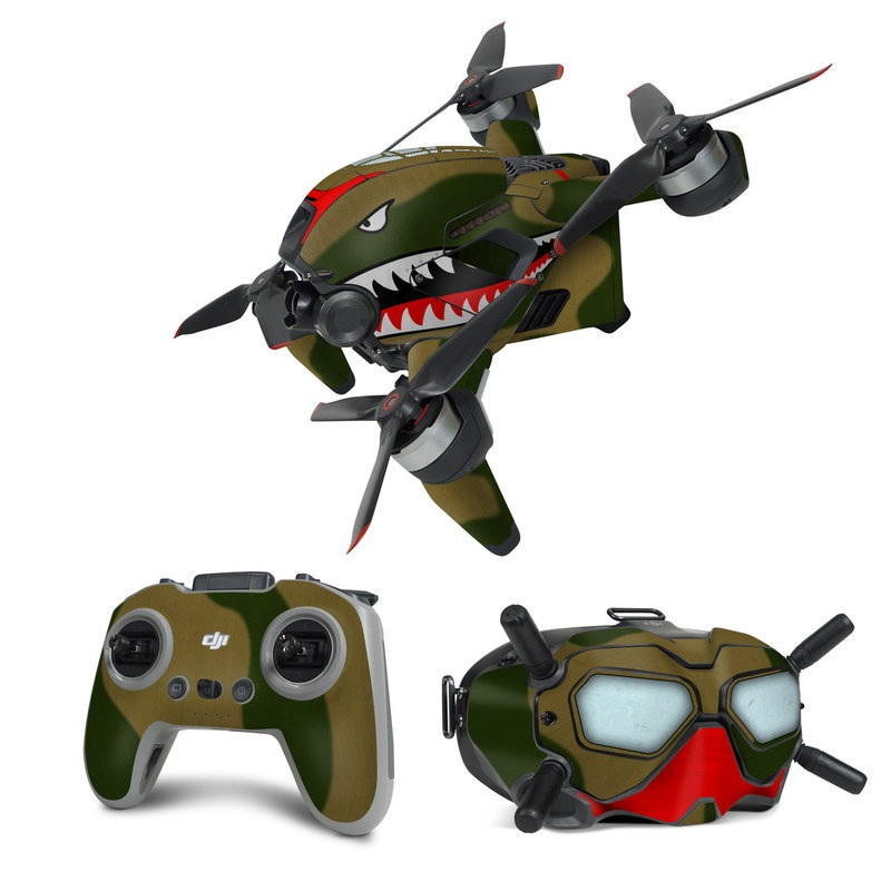 DJI FPV Combo Skin design with green, red, white, black colors