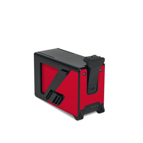 Solid State Red DJI FPV Intelligent Flight Battery Skin
