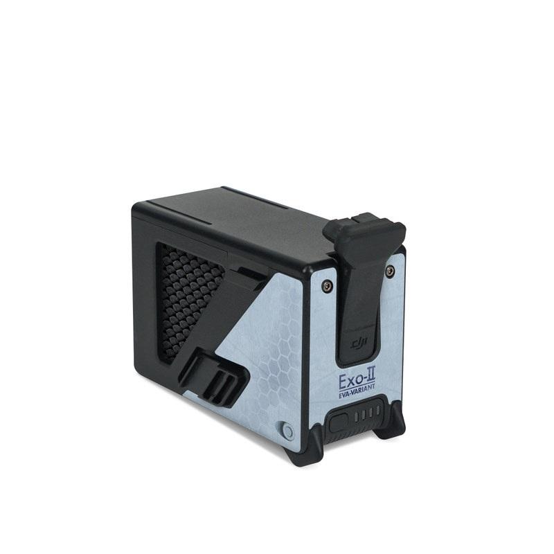 DJI FPV Intelligent Flight Battery Skin design with blue, black, orange colors