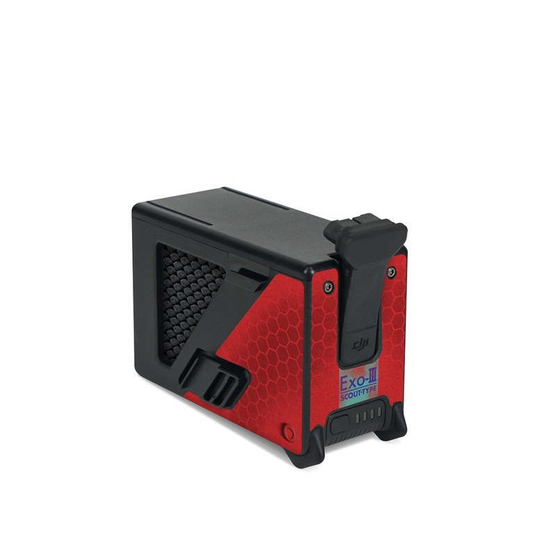 DJI FPV Intelligent Flight Battery Skin design with red, black, blue colors