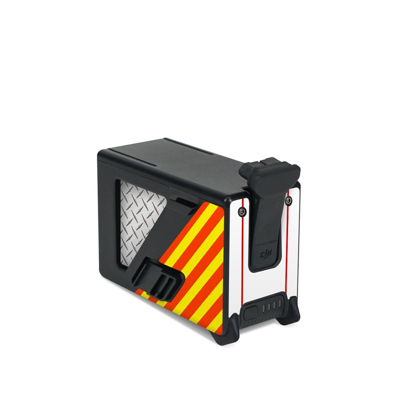 DJI FPV Intelligent Flight Battery Skin design of Military rank, Flag with white, red, yellow colors