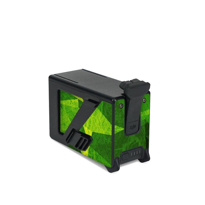 DJI FPV Intelligent Flight Battery Skin design of Green, Pattern, Leaf, Design, Illustration with green colors