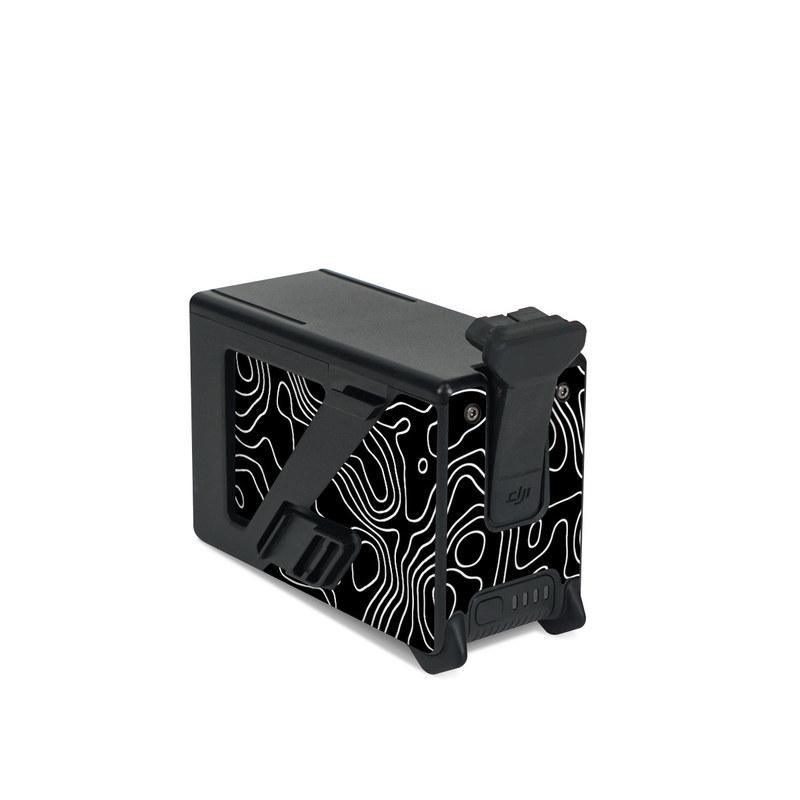 DJI FPV Intelligent Flight Battery Skin design of Art, Motif, Pattern, Symmetry, Monochrome, Circle, Font, Visual arts, Illustration, Monochrome photography with black, gray colors