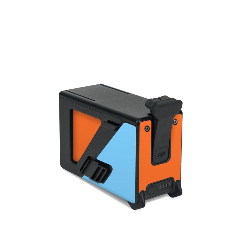 DJI FPV Intelligent Flight Battery Skin design of Line with blue, orange, black colors