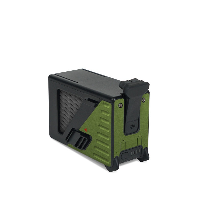 DJI FPV Intelligent Flight Battery Skin design with green, black, yellow, red colors