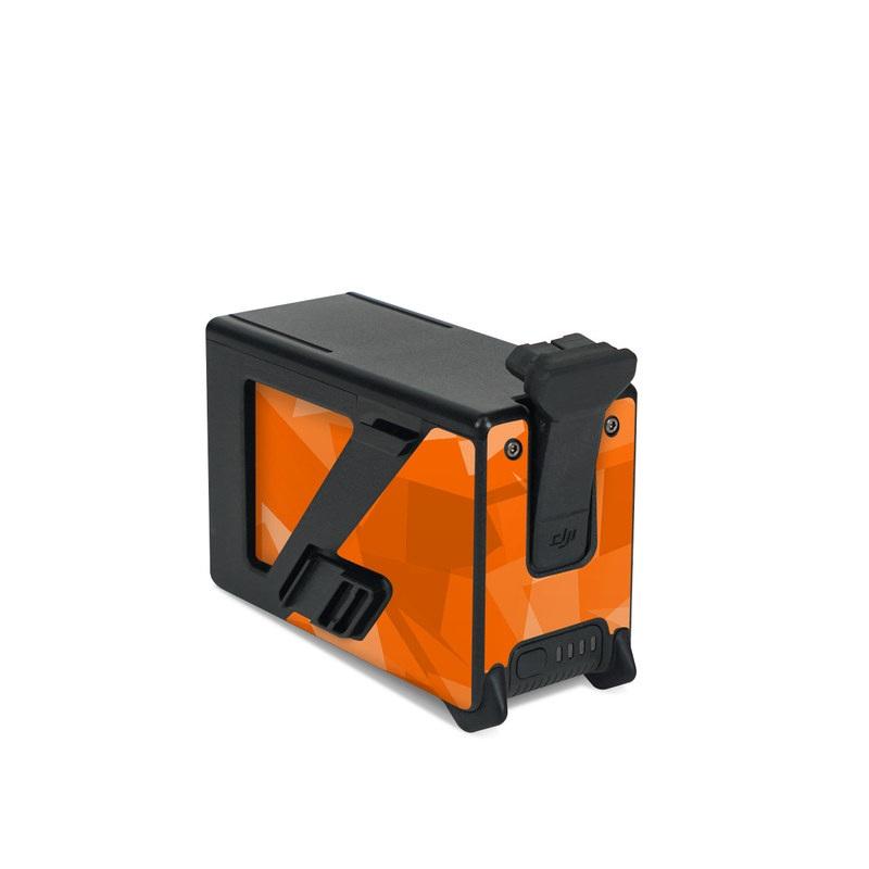 DJI FPV Intelligent Flight Battery Skin design of Orange, Pattern, Peach, Line, Design, Triangle with orange colors