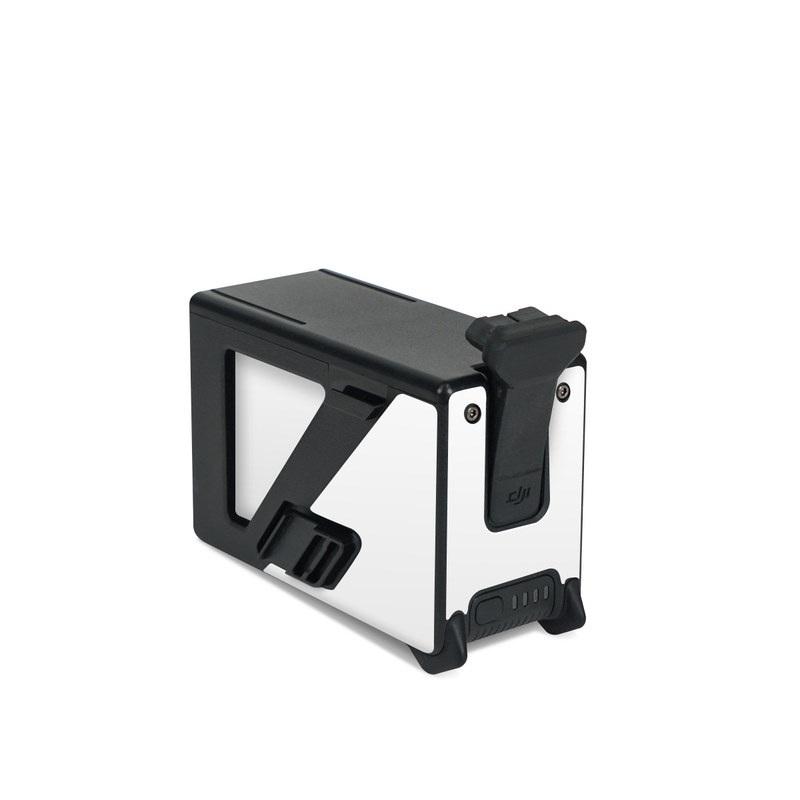 DJI FPV Intelligent Flight Battery Skin design of White, Black, Line with white colors