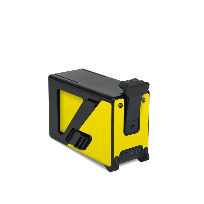 DJI FPV Intelligent Flight Battery Skin design of Green, Yellow, Orange, Text, Font with yellow colors