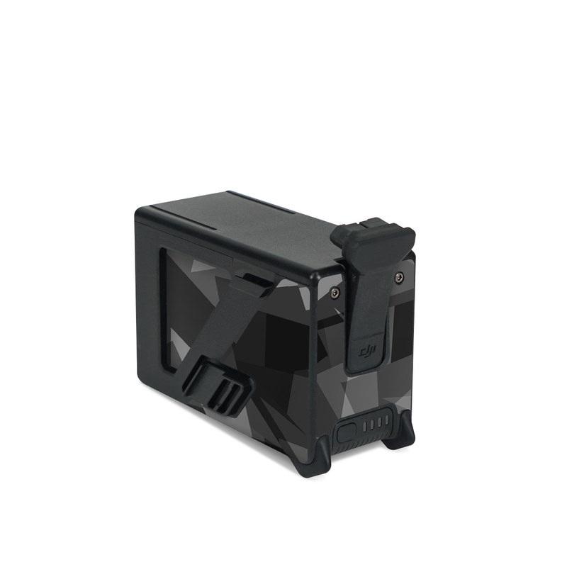 DJI FPV Intelligent Flight Battery Skin design of Black, Pattern, Triangle, Black-and-white, Monochrome, Grey, Design, Line, Architecture, Monochrome photography with black, gray colors