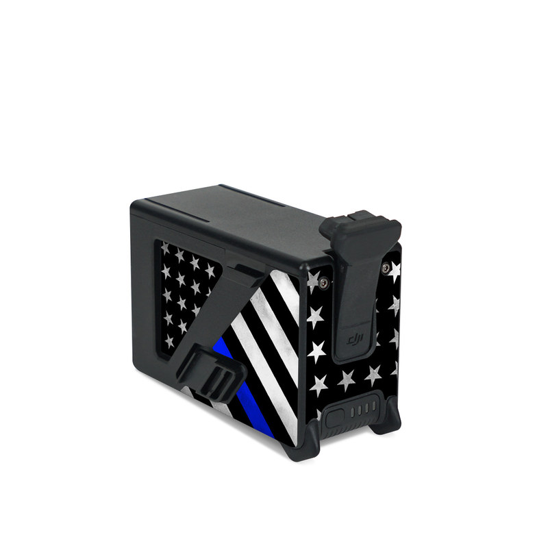 DJI FPV Intelligent Flight Battery Skin design of Flag of the united states, Flag, Cobalt blue, Pattern, Line, Black-and-white, Design, Monochrome, Electric blue, Parallel with black, white, gray, blue colors