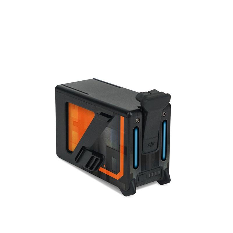 DJI FPV Intelligent Flight Battery Skin design with black, gray, orange colors