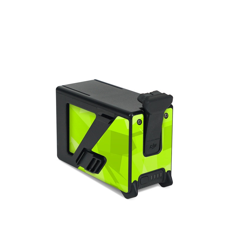 DJI FPV Intelligent Flight Battery Skin design with green colors