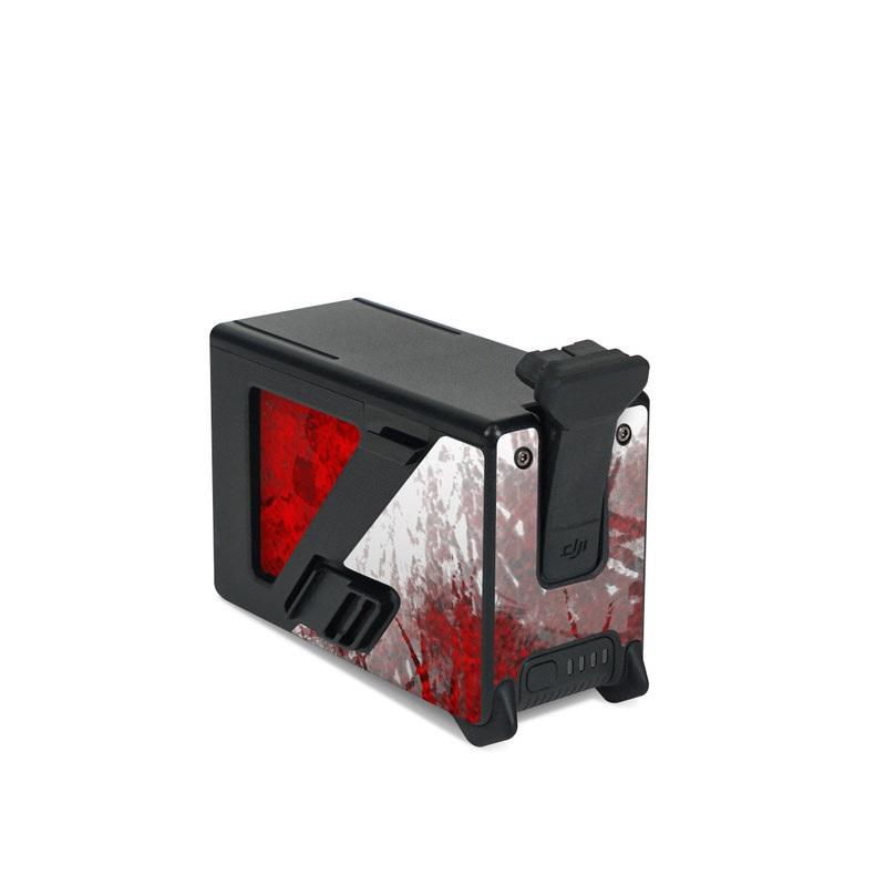 DJI FPV Intelligent Flight Battery Skin design of Red, Graphic design, Skull, Illustration, Bone, Graphics, Art, Fictional character with red, gray, black, white colors