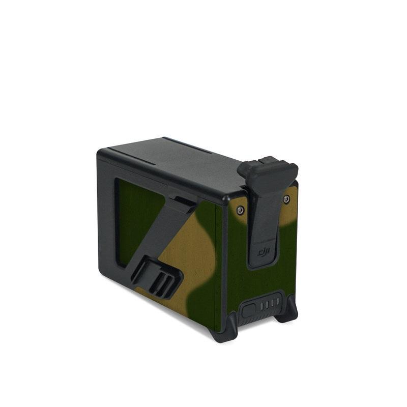 DJI FPV Intelligent Flight Battery Skin design with green, red, white, black colors