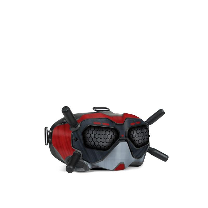 DJI FPV Goggles V2 Skin design with black, red, gray colors