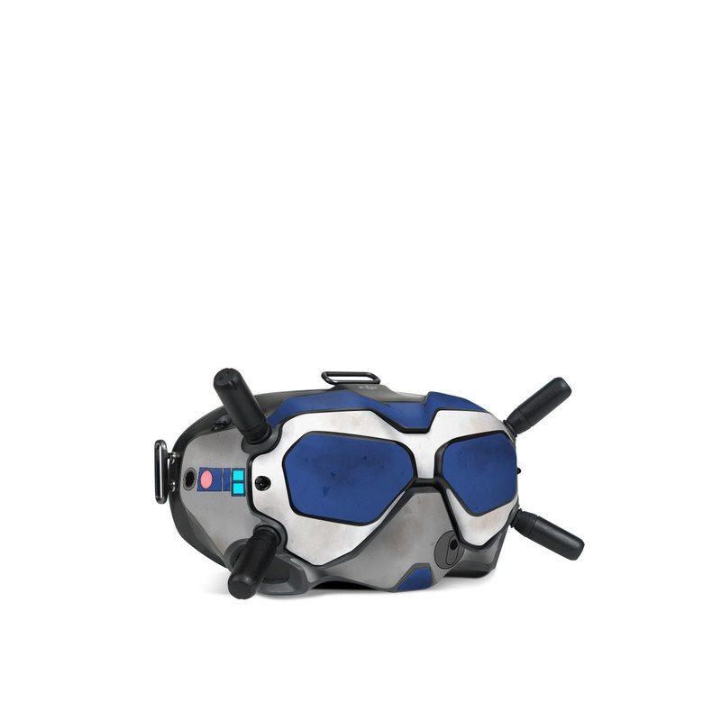 DJI FPV Goggles V2 Skin design with blue, gray, green, red colors