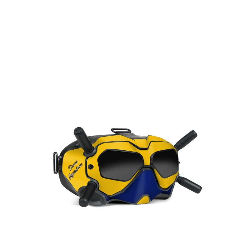 DJI FPV Goggles V2 Skin design with blue, yellow colors