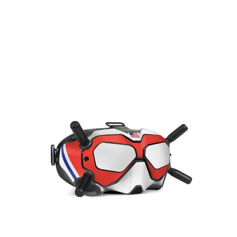 DJI FPV Goggles V2 Skin design with orange, blue, gray, white colors