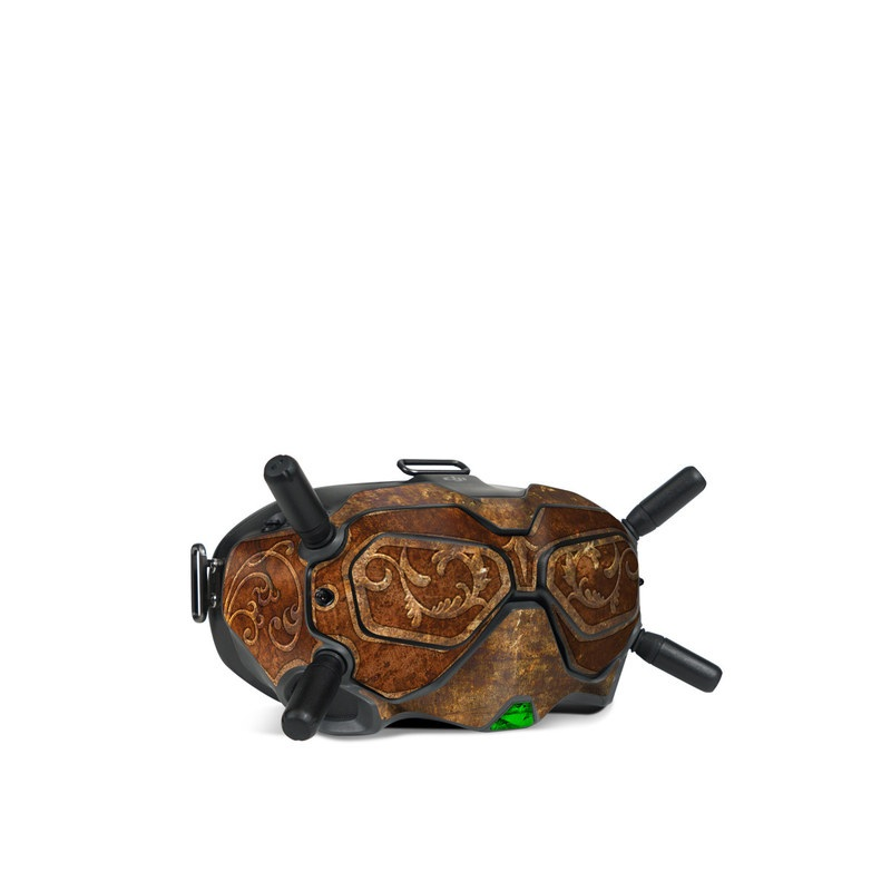 DJI FPV Goggles V2 Skin design with brown, red, yellow, green, orange colors
