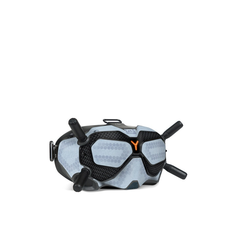 DJI FPV Goggles V2 Skin design with blue, black, orange colors