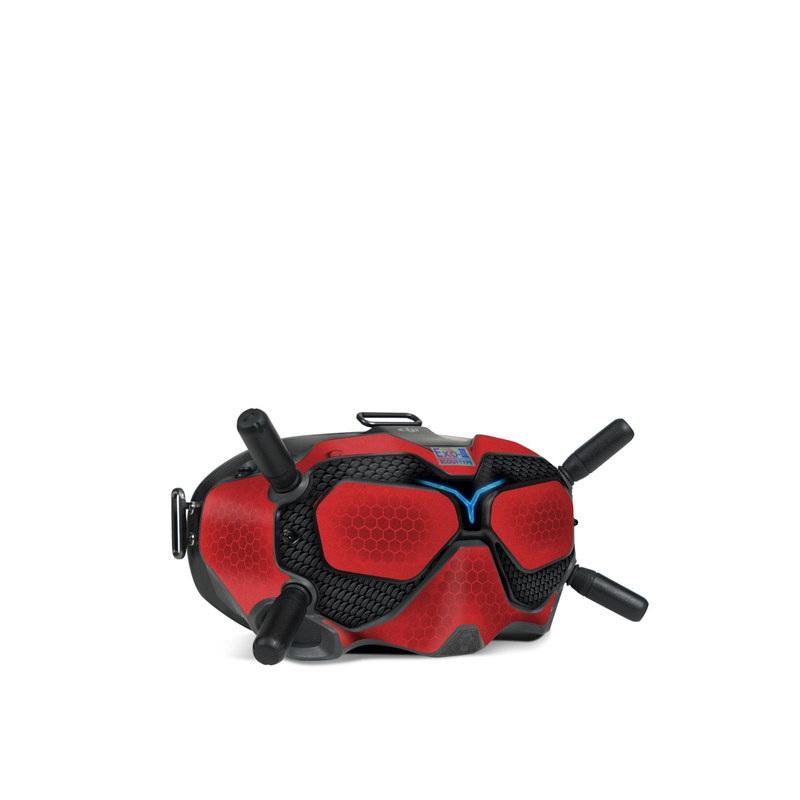 DJI FPV Goggles V2 Skin design with red, black, blue colors
