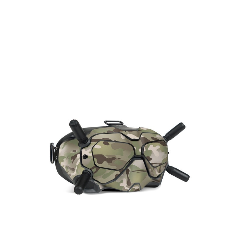 DJI FPV Goggles V2 Skin design of Military camouflage, Camouflage, Pattern, Clothing, Uniform, Design, Military uniform, Bed sheet with gray, green, black, red colors