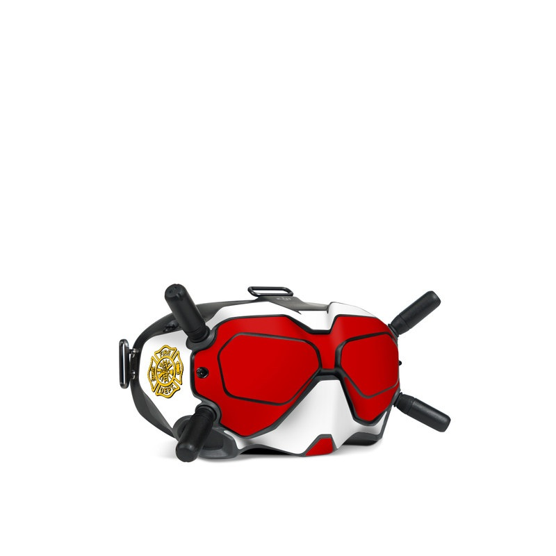 DJI FPV Goggles V2 Skin design of Military rank, Flag with white, red, yellow colors