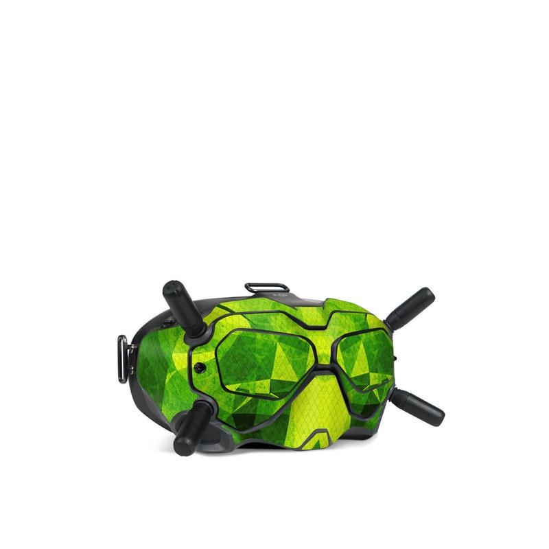 DJI FPV Goggles V2 Skin design of Green, Pattern, Leaf, Design, Illustration with green colors