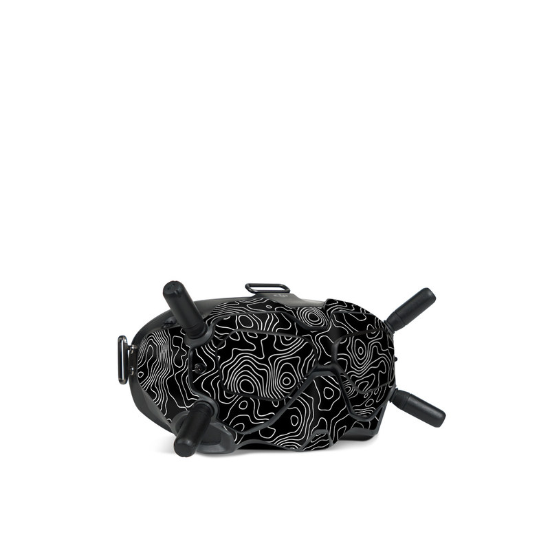 DJI FPV Goggles V2 Skin design of Art, Motif, Pattern, Symmetry, Monochrome, Circle, Font, Visual arts, Illustration, Monochrome photography with black, gray colors