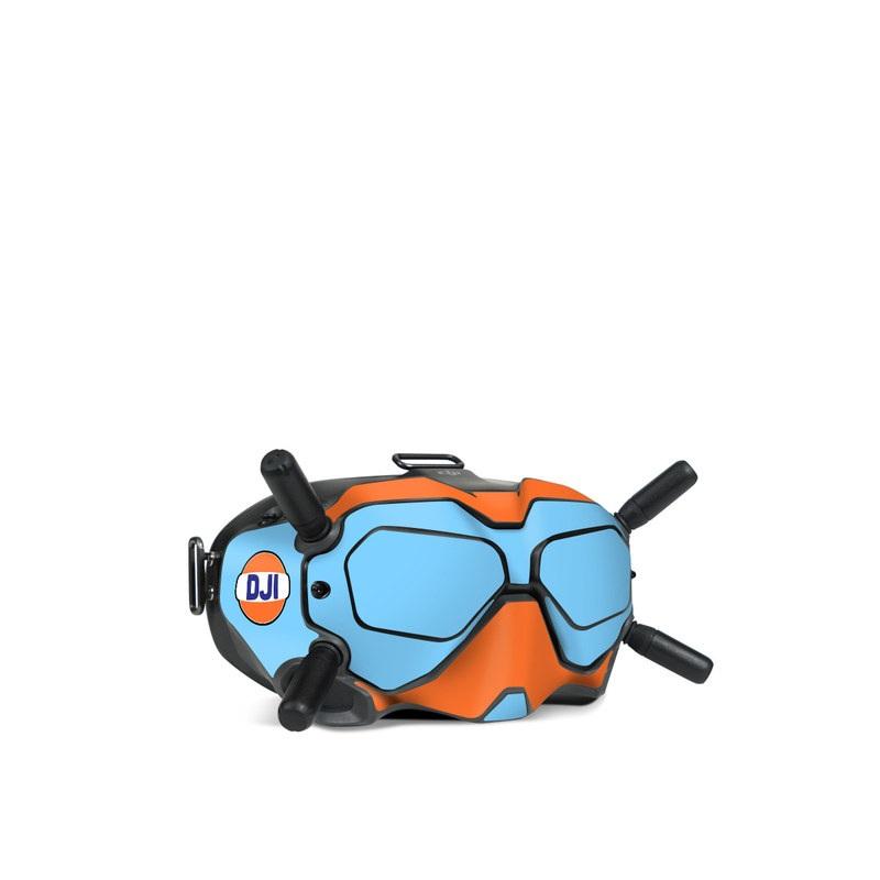 DJI FPV Goggles V2 Skin design of Line with blue, orange, black colors