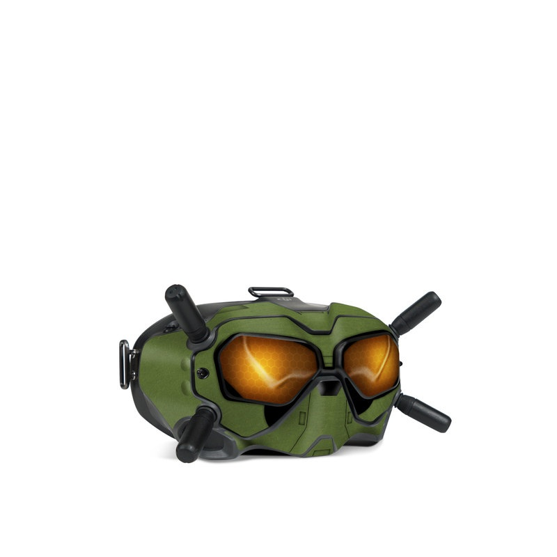 DJI FPV Goggles V2 Skin design with green, black, yellow, red colors