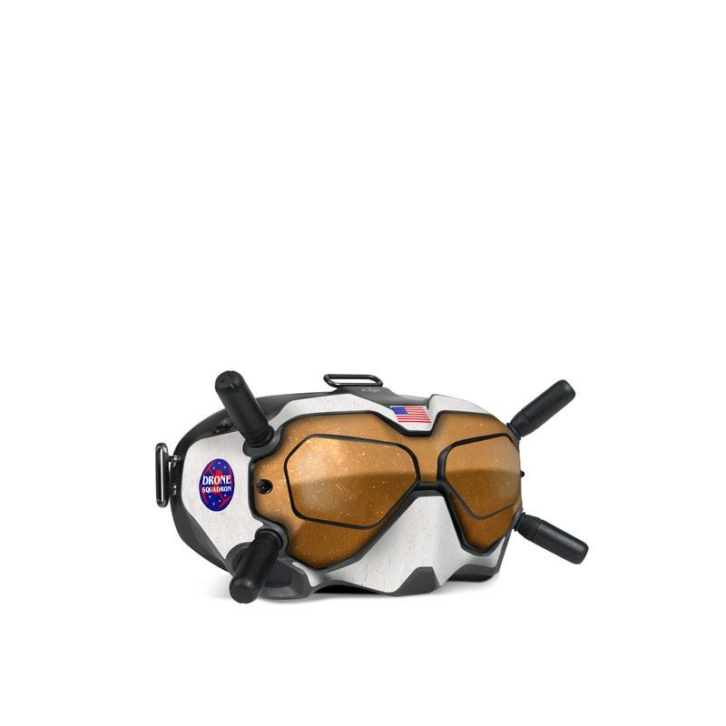 DJI FPV Goggles V2 Skin design with black, white, red, blue, brown colors
