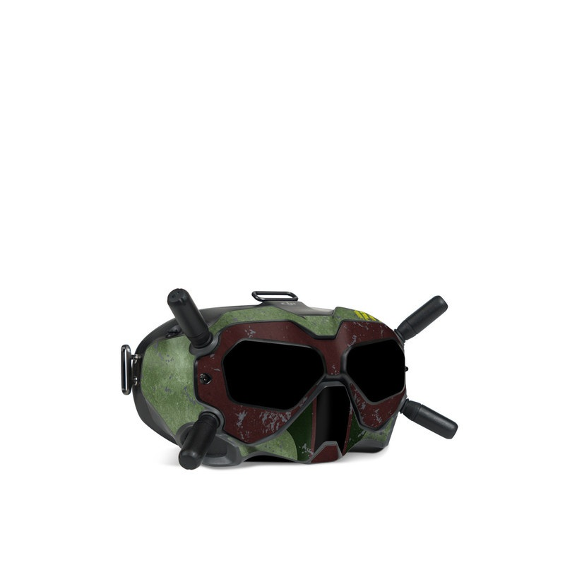 DJI FPV Goggles V2 Skin design with red, green, gray colors
