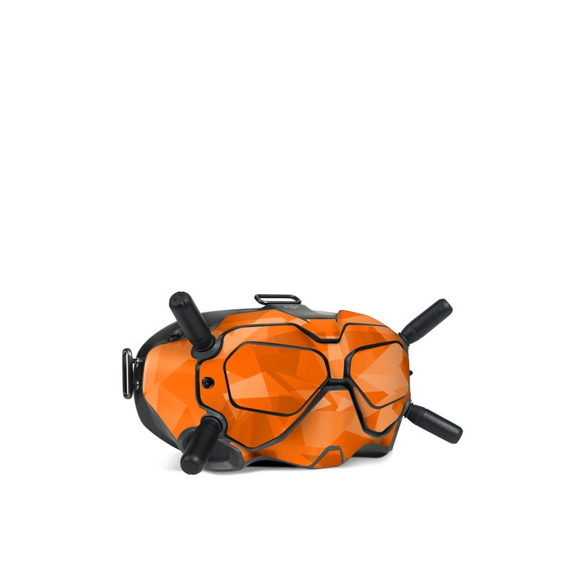 DJI FPV Goggles V2 Skin design of Orange, Pattern, Peach, Line, Design, Triangle with orange colors