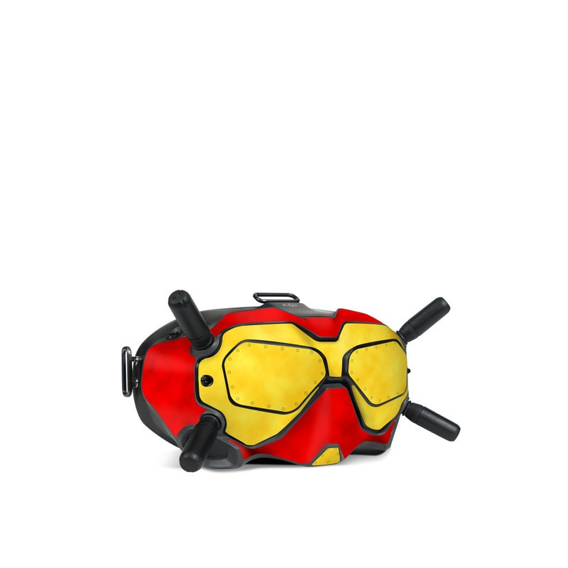 DJI FPV Goggles V2 Skin design with red, yellow, black colors