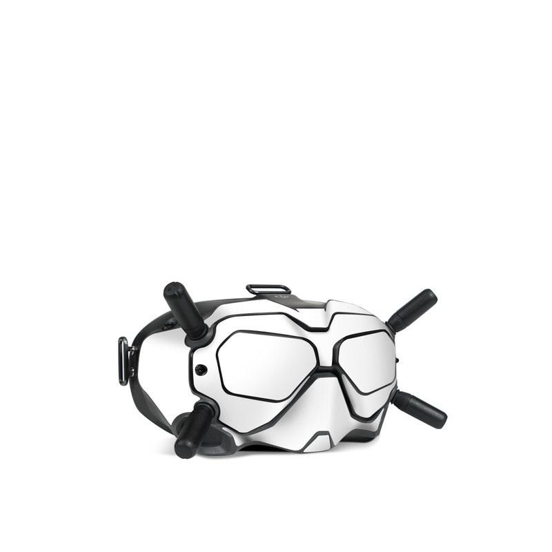 DJI FPV Goggles V2 Skin design of White, Black, Line with white colors