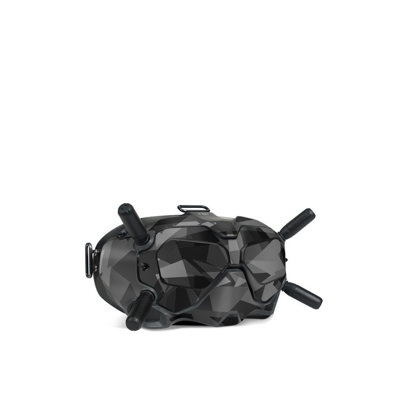 DJI FPV Goggles V2 Skin design of Black, Pattern, Triangle, Black-and-white, Monochrome, Grey, Design, Line, Architecture, Monochrome photography with black, gray colors