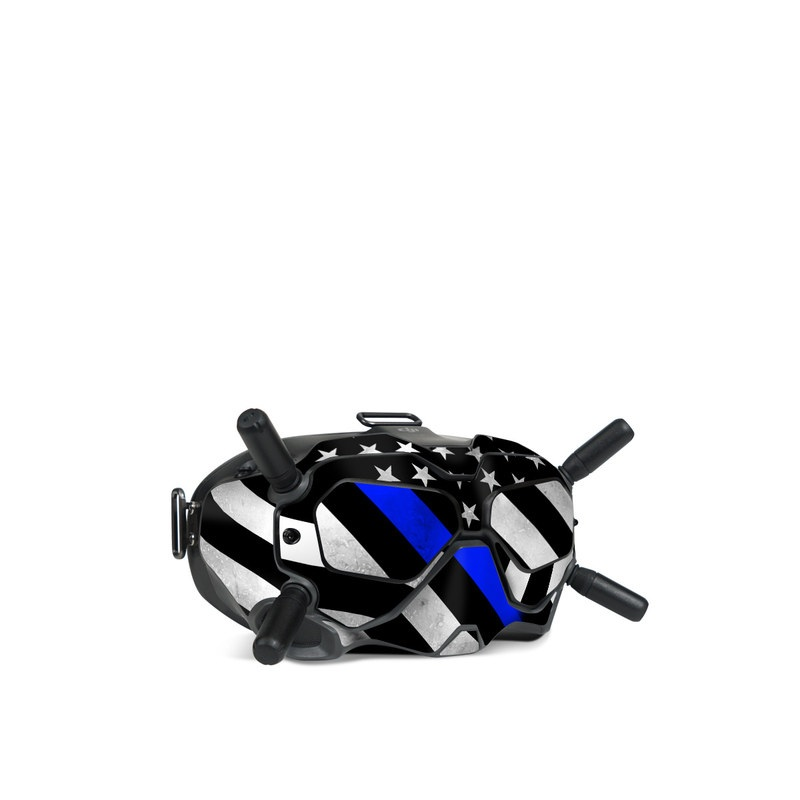 DJI FPV Goggles V2 Skin design of Flag of the united states, Flag, Cobalt blue, Pattern, Line, Black-and-white, Design, Monochrome, Electric blue, Parallel with black, white, gray, blue colors
