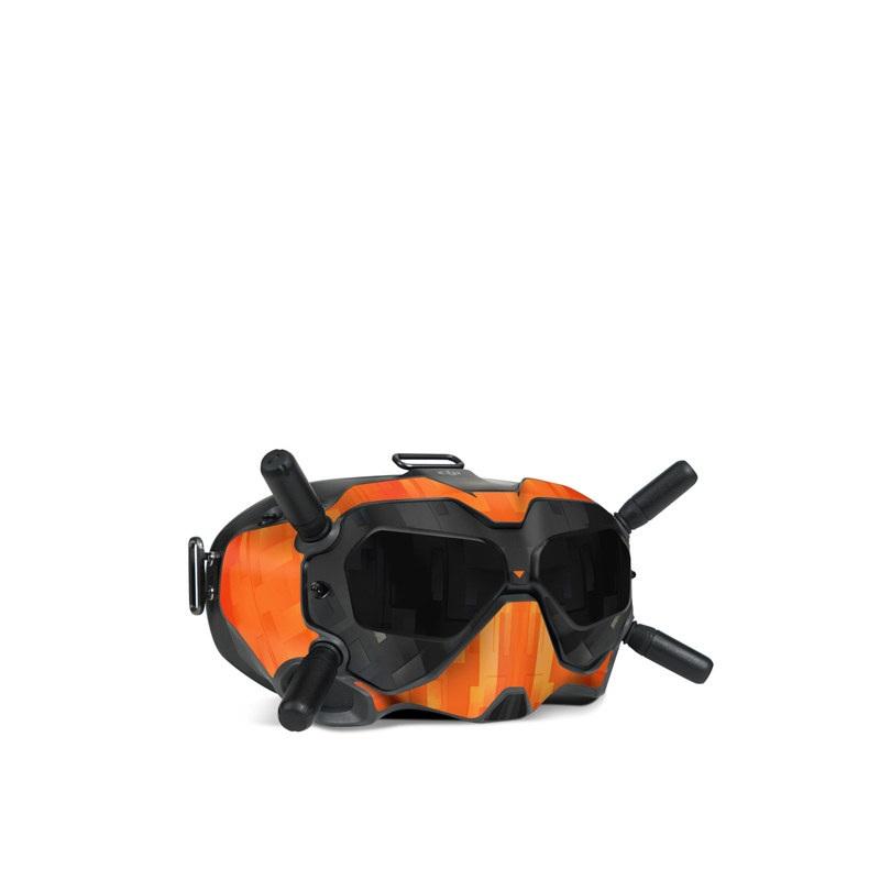 DJI FPV Goggles V2 Skin design with black, gray, orange colors