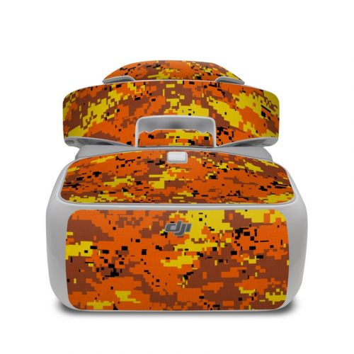 Digital Orange Camo DJI Goggles Skin